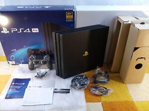 Sony PS4 Playstation 4 Pro 2TB CUH-7116B Jet Black+Zubehörpaket: Controller +OVP
