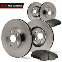 (Front + Rear) Rotors w/Metallic Pad OE Brakes Fits Sonata Optima Magentis