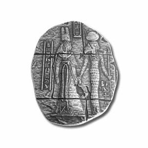 2 oz .999 Fine Silver - Egyptian Relic Goddess Bar Hathor, Isis, Mut, and Ma'at