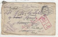 Field Post 1917 Multi Registered Passed by Censor PH J1967