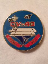 US Navy USS Coral Sea CV-43 Lapel Pin  15/16 inch Pin Aircraft carriers