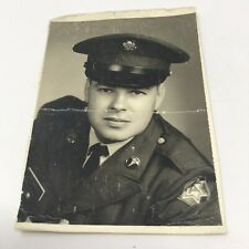 Vintage US Army Portrait Photo Photograph 1940s Era