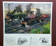 EXPRESS ENGINES AT TYSELEY by Terence Cuneo, Print