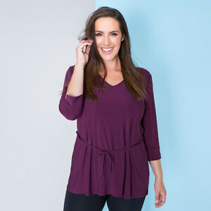 Styled By Tie Belt Tunic S 8-10, M 12-14, L 16-18  various colours Ideal World