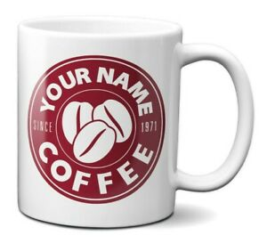Personalise Your Name Costa Coffee Inspired Style Coffee Mug Gift 11oz Ceramic