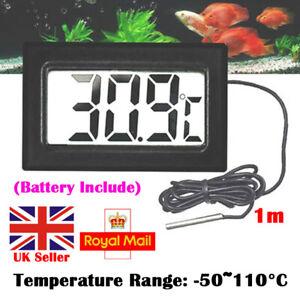 New Digital Temperature Meter Sensor Thermometer Gauge LCD Baby Room Indoor UK