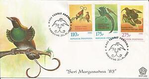 Indonesia 1983  'Seri Margasatwa' Exotic Birds Bandung Hari Terbit Pertama Cover