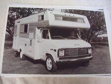 1973 GMC VAN CAMPER CONVERSION   11 X 17  PHOTO  PICTURE