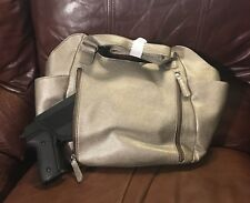 VISM BWL003 DESIGNER HANDGUN CONCEALED CARRY CCW PURSE QUILTED HOBO GRAY R/L USE