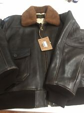 "Schott G1 Flight Leather Jacket Size 60"" New With Tags. Wings Of Gold."