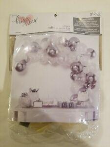 Silver Balloon Arch Kit Wedding Party Baby Shower Reception Decor 69pcs LAYTEX