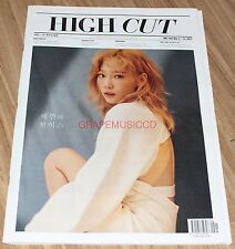 HIGH CUT VOL.193 TAEYEON GIRLS' GENERATION GOT7 JINYOUNG KOREA MAGAZINE TABLOID