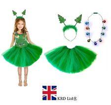 CHRISTMAS TREE TUTU COSTUME Kids Teens Ladies Girls Santa Fancy Dress Party UK