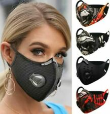 Face Mask Washable Reusable Anti Pollution PM2.5 Two Air Vent With Filter UK