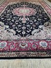 9x6FT Handmade Perssian Wool and Silk Rug.