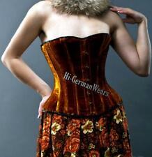 Heavy duty Steel Boned full Bust waist entrenador brown Velvet Extreme corset hi-73