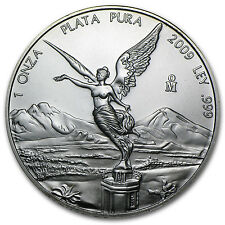 2009 1 oz Silver Mexican Libertad Coin - Brilliant Uncirculated - SKU #50584