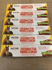 Durvet Duramectin Ivermectn Paste 1.87% Equine Dewormer Lot Of 6