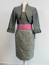 Carla Ruiz Mother Of The Bride Dress Suit - Grey & Pink - Size 8-10 - Box64 41 D