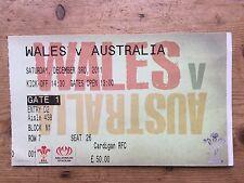 Wales v Australia 3 Dec 2011 Cardiff Used Rugby Ticket -Shane Williams LAST GAME