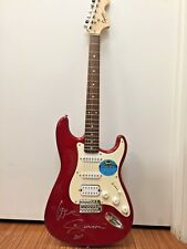 NEW Fender Squire Affinity Red Electric Guitar Signed by Enrique Iglesias MINT