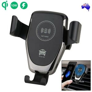 Qi Wireless Car Charger Dock Air Vent Mount Gravity Holder for Mobile Phone AU