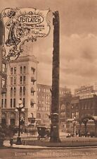 Golden Potlatch Seattle July 1911 Totel Pole Pioneer Square Olympia beer PL26