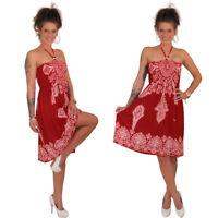 Minikleid Tunika Röcke Kleid Partykleid Strandkleid Neckholder Maxirock