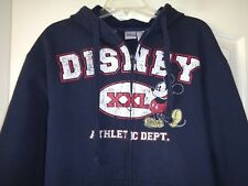 "MEN'S DISNEY MICKEY MOUSE ATHLETIC DEPT. HOODIE SWEATSHIRT LARGE 44"" CHEST"