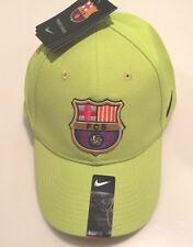 FC Barcelona Cap Hat Adjustable Strap Lime Spanish Premier Soccer League OSFM