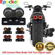 LED License Tail Turn Plate Brake Signal Light For Bobber Cafe Racer ATV Chopper