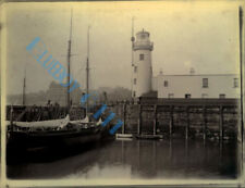 Scarborough Harbour Lighthouse From The North Original Edwardian Photo