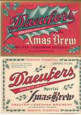 11 Different Old Christmas/Holiday Beer Labels