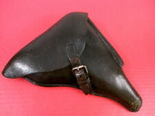 WWII German Black Leather Holster for Luger P08 Pistol: Hans Romer, WaA918 1936