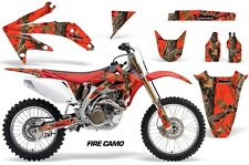Honda Graphic Kit AMR Racing Bike Decal CRF 450R Decal MX Parts 05-08 FIRE CAMO