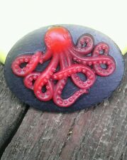 Goth Octopus cameo silicone push mold mould sugar craft resin polymer clay