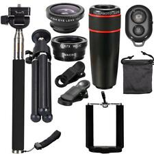 10in1 Phone 3X Camera Lens Travel Kit w/ Tripod Selfie Remote Control Black