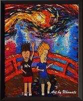 Superhero Captain America Decor Canvas Print Van Gogh Starry Night Wall Art A062