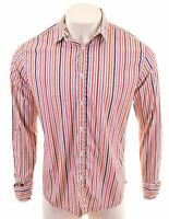 TED BAKER Mens Shirt Size 4 Medium Multi Striped Cotton  LH13