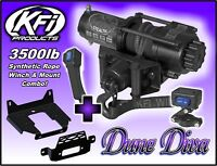 3500lb KFI Stealth Winch Mount Combo - 2010-18+ Can-Am Commander 800 1000 E Max