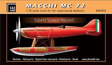 SBS Model 7015 1/72 Macchi MC 72 'World Speed Record' full resin kit