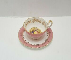 Vintage Aynsley Pink Orchard Tea Cup and Saucer