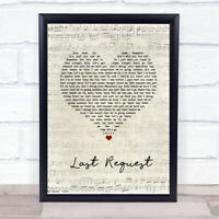 Last Request Script Heart Song Lyric Print