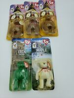 5 McDonalds Ty International Beanie Baby Bear Set 1999 ERIN MAPLE  3x BRITANNIA