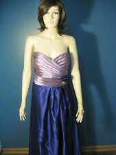 Size 18 lavender/purple SATIN, ZIP UP, FORMAL, LINED dress by PRETTY MAIDS