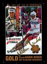 Karin Buder AUTOGRAFO MAPPA ORIGINALE FIRMATO skialpin + a 176484