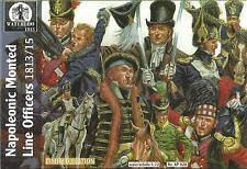 WATERLOO 1815 1:72 SOLDATINI NAPOLEONIC MONTED LINE OFFICERS 1813/15  ART AP 028
