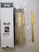 12pc NEW Mepra AZ10891106 Dessert Knife Linea ORO Free Shipping!
