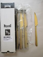 12pc NEW Mepra AZ10891106 Dessert Knife Linea ORO Free Shipping!