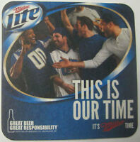 MILLER LITE BEER THIS IS OUR TIME 1 IN 10 WIN Coaster, MAT, Milwaukee, WISCONSIN